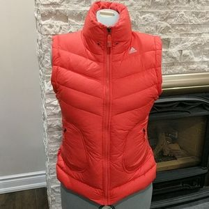 Adidas Coral down and feather-filled vest